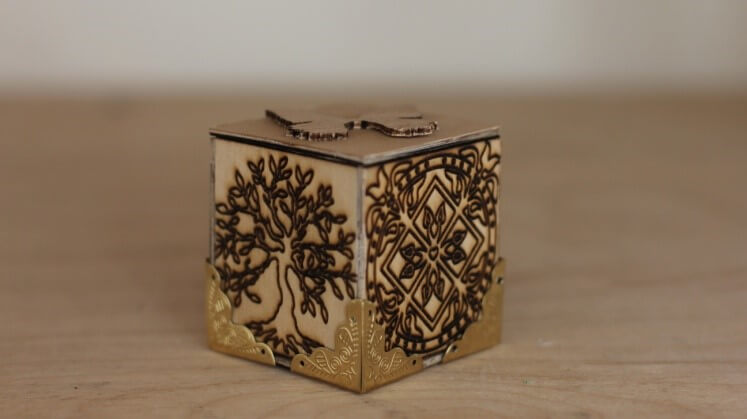 wooden laser cut box