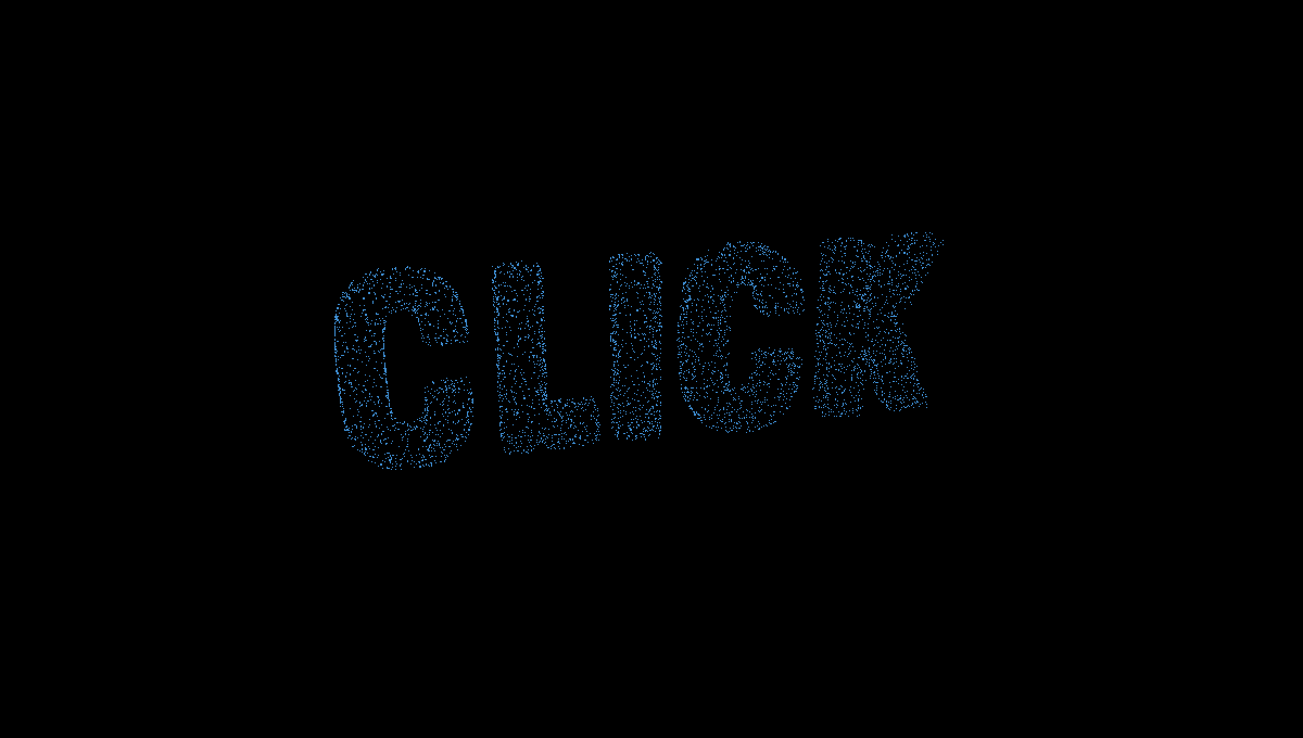Demo image: Particle Morphing Text
