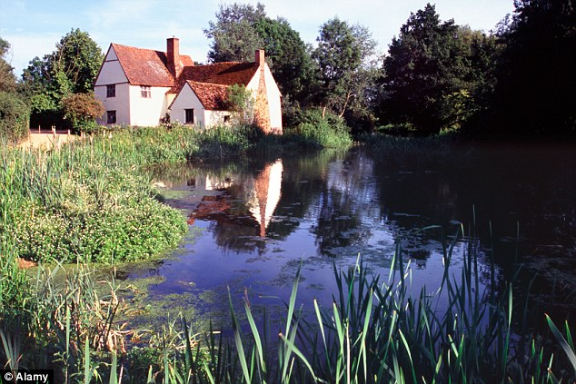 The scene at Dedham where John Constable painted the Haywain, as it is today