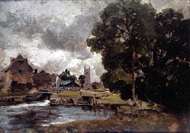 Dedham Lock and Mill was donated to the Victoria and Albert Museum by Constable