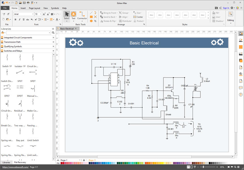 Edraw electrical diagram software