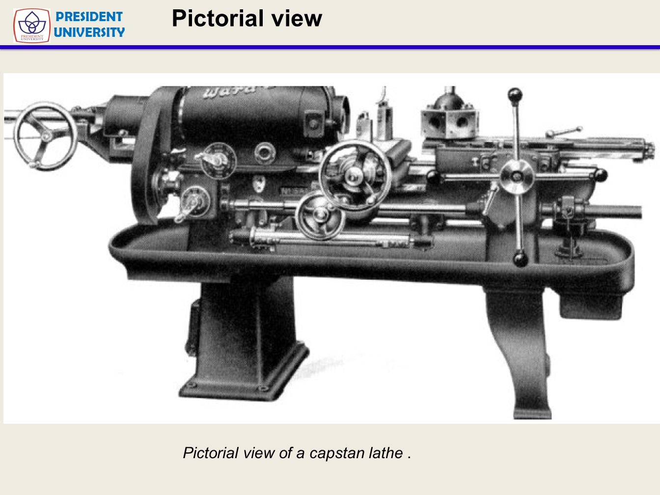 Pictorial view of turret Lathe